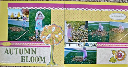 Autumn Bloom Layout by Wendy Kessler