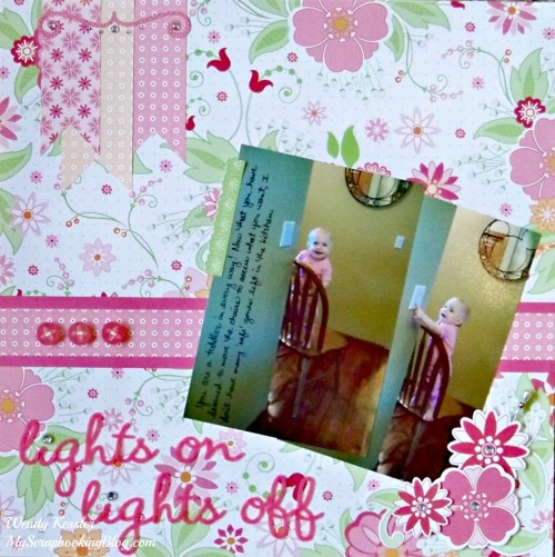 Lights on/off Layout by Wendy Kessler