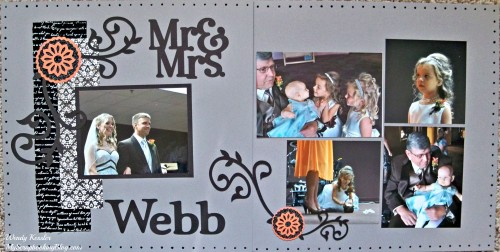 Mr. & Mrs. Layout by Wendy Kessler