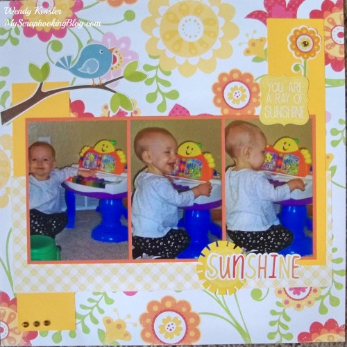 Sunshine Layout by Wendy Kessler