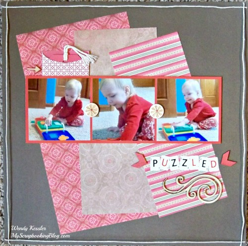 Puzzled Layout by Wendy Kessler