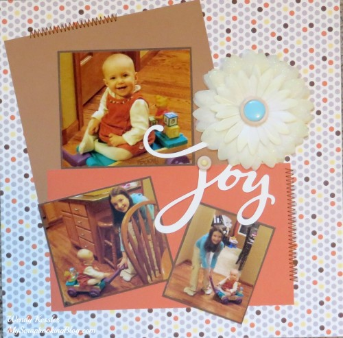 Joy Layout by Wendy Kessler