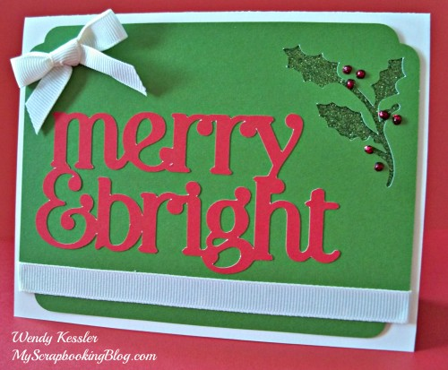 Merry & Bright Christmas Card by Wendy Kessler