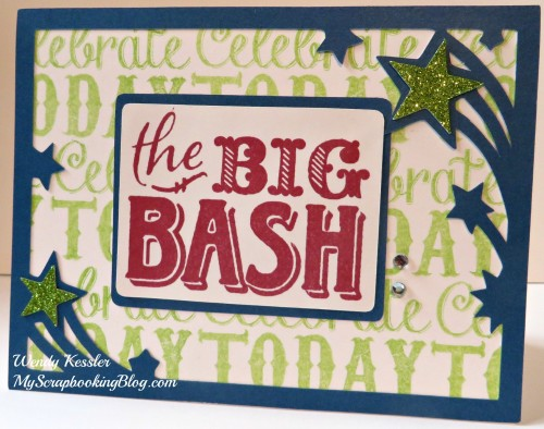 Big Bash card by Wendy Kessler