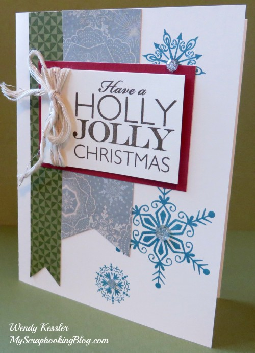 Holly Jolly Christmas card by Wendy Kessler