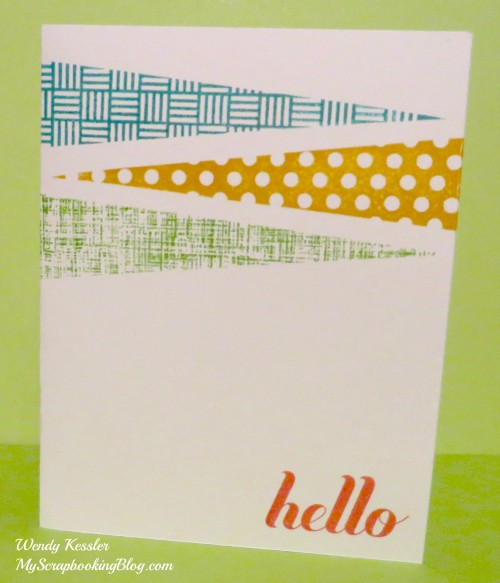 Simple Hello Card by Wendy Kessler