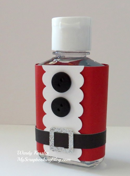 Santa-tizer bottle by Wendy Kessler
