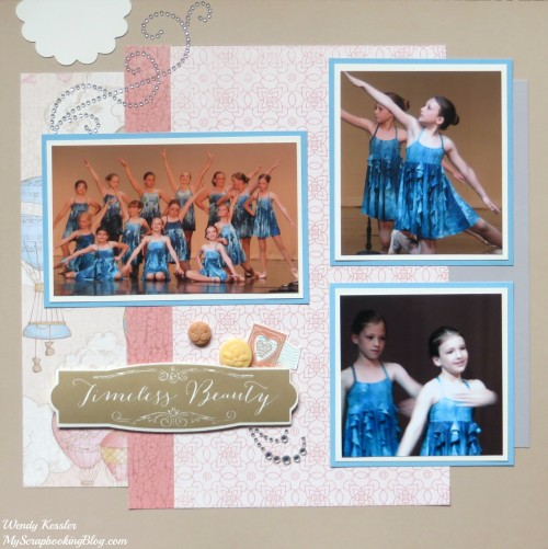 Timeless Beauty Layout by Wendy Kessler