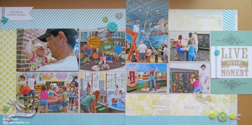 Live in the Moment layout by Wendy Kessler