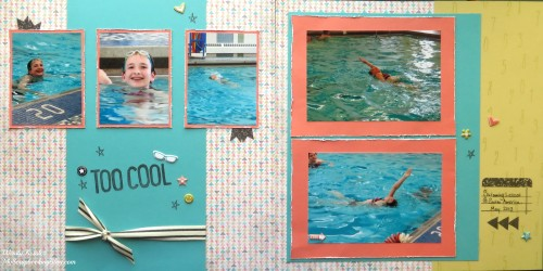 Too Cool Swim Layout by Wendy Kessler