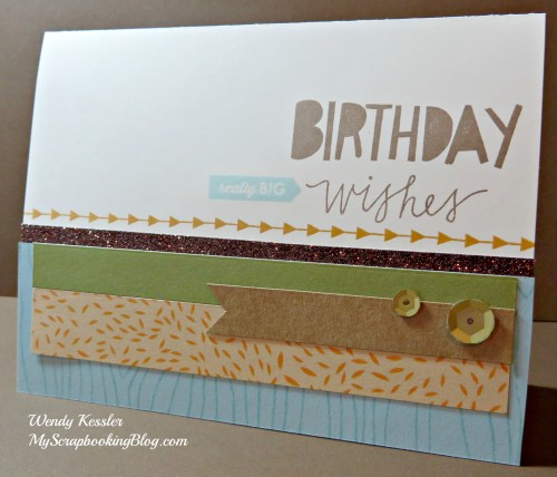 Birthday Wishes Card by Wendy Kessler
