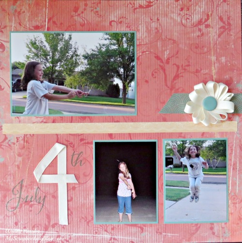 July 4 Layout by Wendy Kessler