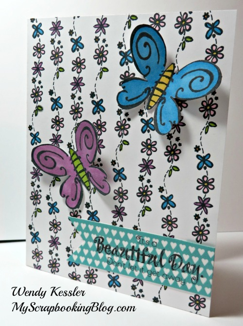 Beautiful Day Card by Wendy Kessler