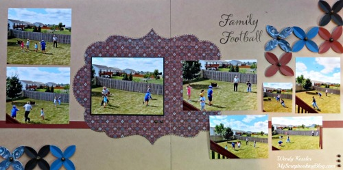 Family Football Layout by Wendy Kessler