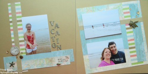 Vacation Layout by Wendy Kessler