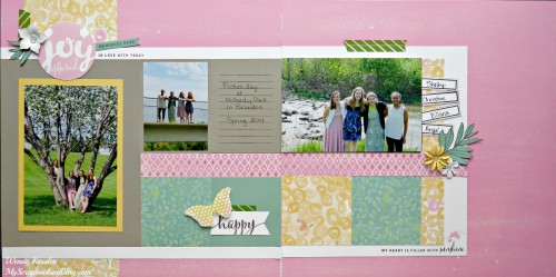 Joy Captured Layout by Wendy Kessler