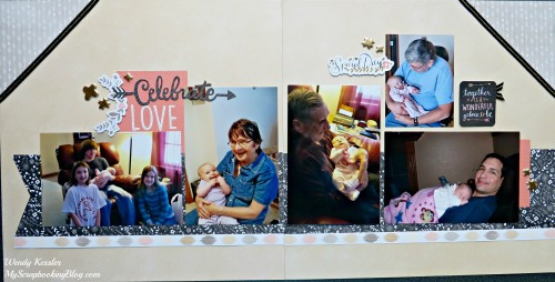 Celebrate Love Layout by Wendy Kessler
