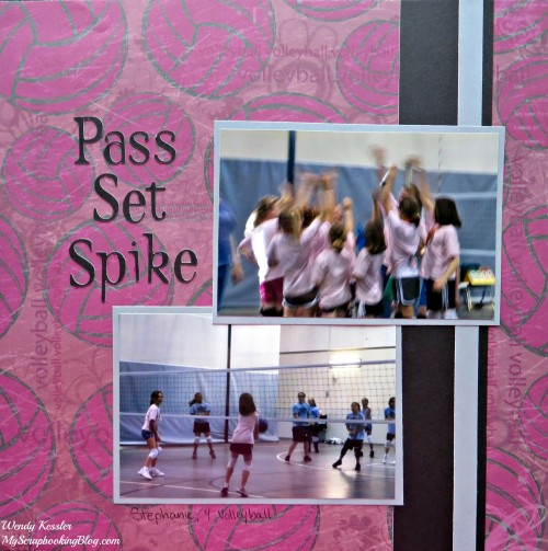 Volleyball Layout by Wendy Kessler