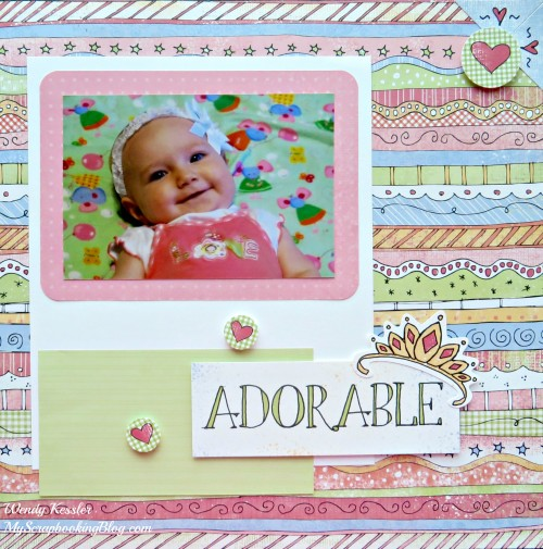 Adorable Layout by Wendy Kessler
