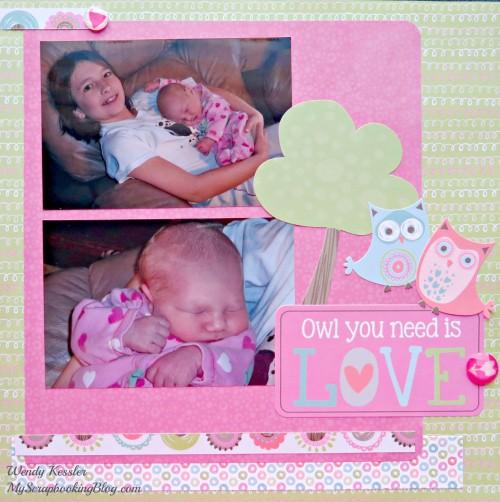 Owl Love layout by Wendy Kessler