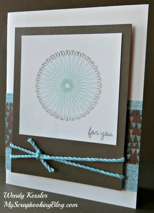 Dizzy Circles Card by Wendy Kessler