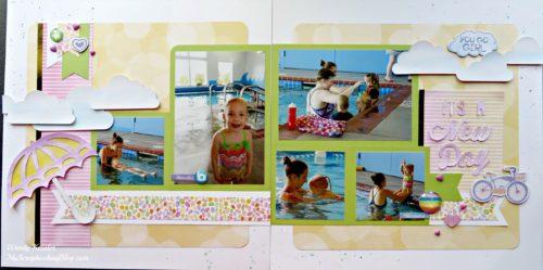 New Day Swim Layout by Wendy Kessler